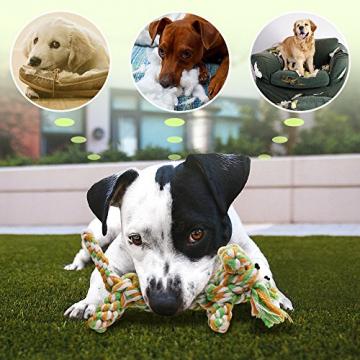 Hundespielzeug, Raffaelo Haustier Hund Seil Spielzeug Baumwolle Seil Hund Tug Krieg Seil Spielzeug Set Dental Zähne Reinigung Chew Spielzeug für Kleine und Mittlere Hunde - Packung mit 4 PCS - 5