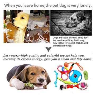 Hundespielzeug Set, ideal für kleine und mittelgroße Hunde, langlebig, sicher und Toxin-frei, Pet Kauen Seil Spielzeug, Hundeseil Spielzeug - Hundespielzeug (10 Artikel) - 2