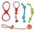 Hundespielzeug Set, ideal für kleine und mittelgroße Hunde, langlebig, sicher und Toxin-frei, Pet Kauen Seil Spielzeug, Hundeseil Spielzeug - Hundespielzeug (10 Artikel) - 6