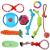 Hundespielzeug Set, ideal für kleine und mittelgroße Hunde, langlebig, sicher und Toxin-frei, Pet Kauen Seil Spielzeug, Hundeseil Spielzeug - Hundespielzeug (10 Artikel) - 1